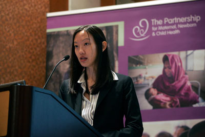 Justine Hsu, London School of Hygiene and Tropical medicine and member of the Finance Working Group of Countdown to 2015 - Photo credit Adam Stoltman